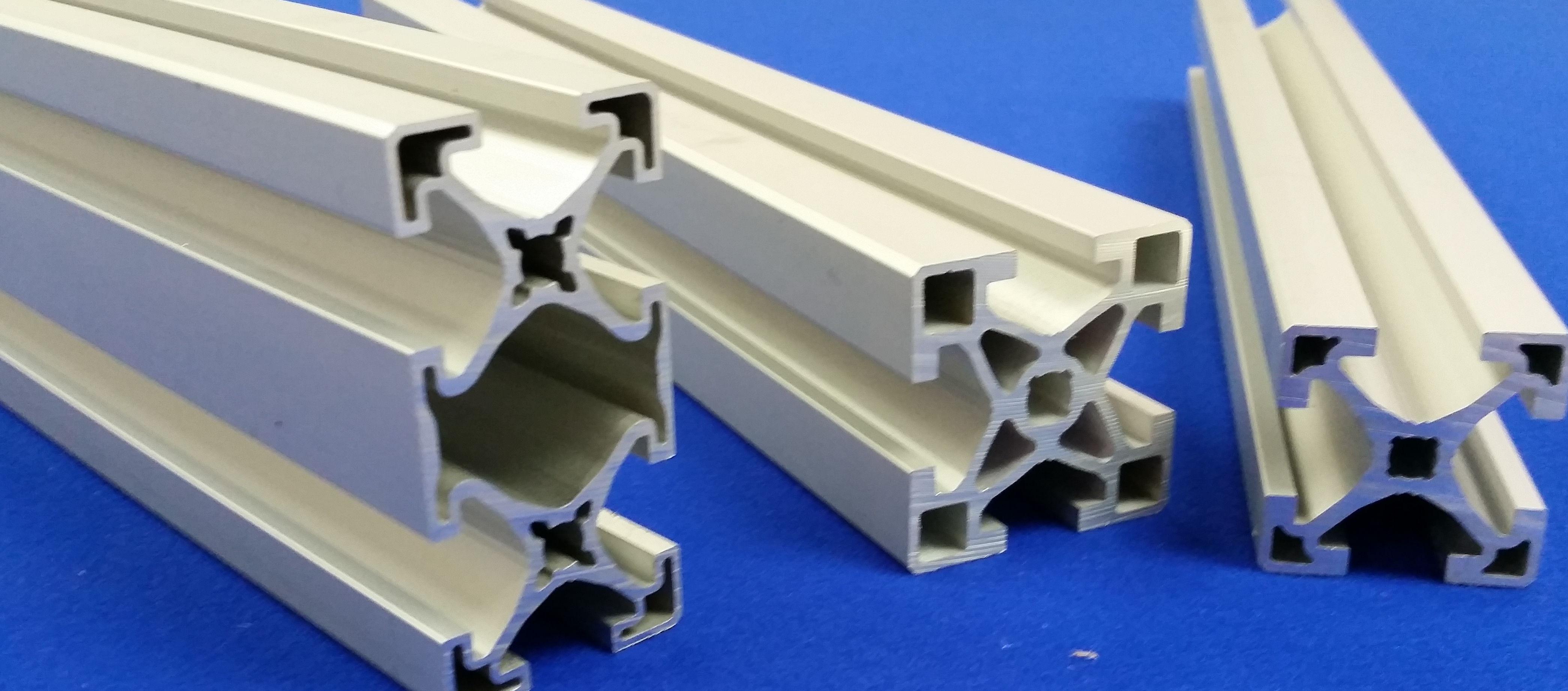 Aluminum extrusion frame samples
