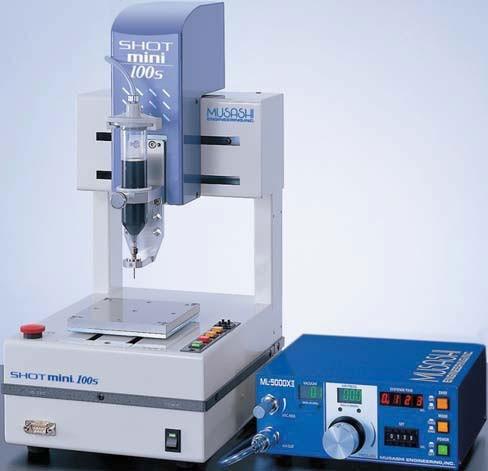 Musashi dispenser controller, desktop robot, syringe and needle